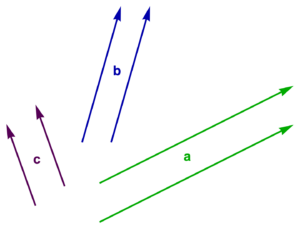 Figure 1.1 (b): Example translations of three vectors.